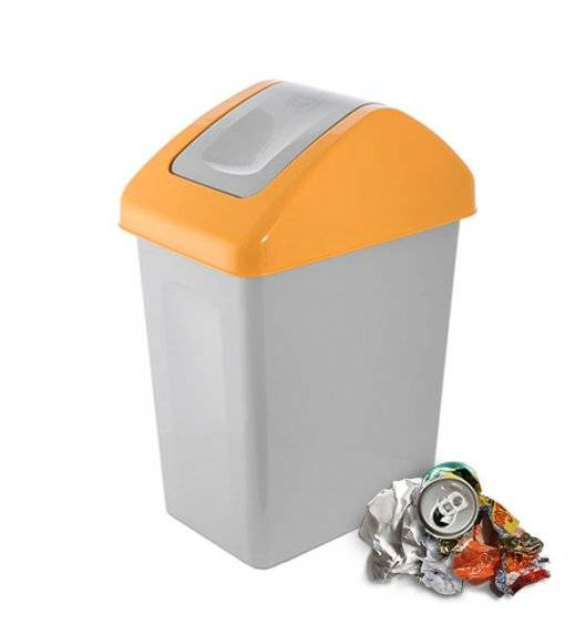 BRANQ 1310 Kosz / pojemnik na śmieci 10 L do segregacji / żółty