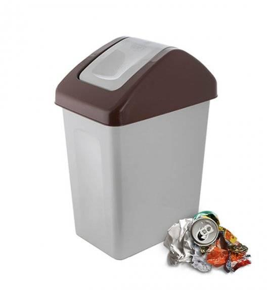 BRANQ 1310 Kosz / pojemnik na śmieci 10 L do segregacji / brązowy