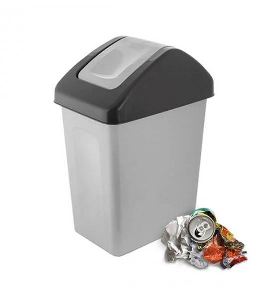 BRANQ 1310 Kosz / pojemnik na śmieci 10 L do segregacji / szary