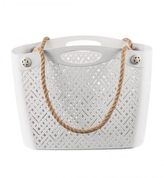 BRANQ 1801 Torba / koszyk na ramię ażurowa / antyczna biel