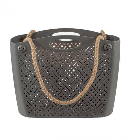 BRANQ 1801 Torba / koszyk na ramię ażurowa / szary