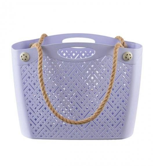 BRANQ 1801 Torba / koszyk na ramię ażurowa / fiolet