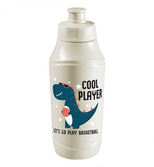 BRANQ 1990 Bidon / butelka na wodę 350 ml dla dzieci / dinozaur koszykasz