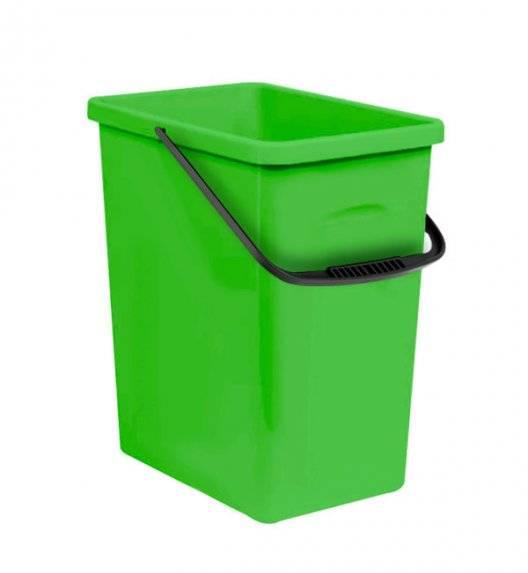 BRANQ 1309 Pojemnik do segregacji odpadów / zielony / 11 L / tworzywo sztuczne