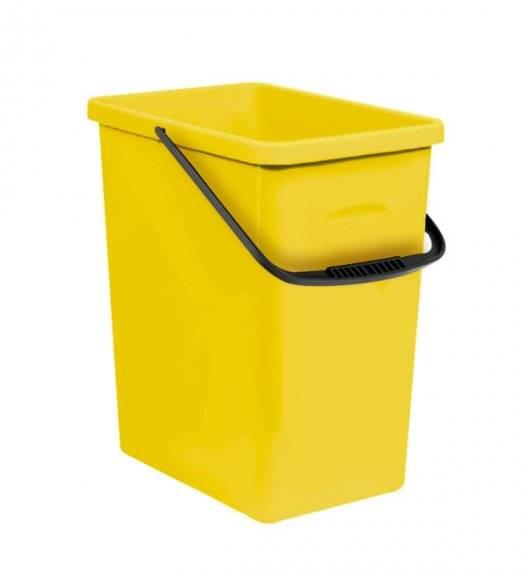 BRANQ 1309 Pojemnik do segregacji odpadów 11 l plastik / żółty / tworzywo sztuczne