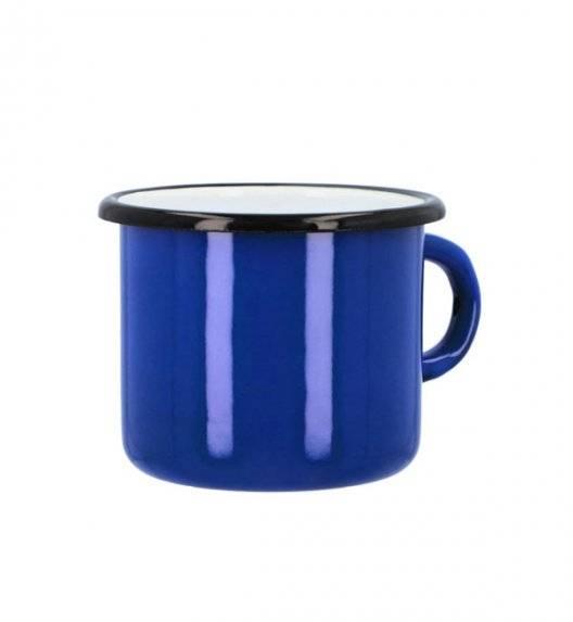 EMALIA OLKUSZ Kubek / garnuszek 500 ml - 9 cm / stal emaliowana niebieska