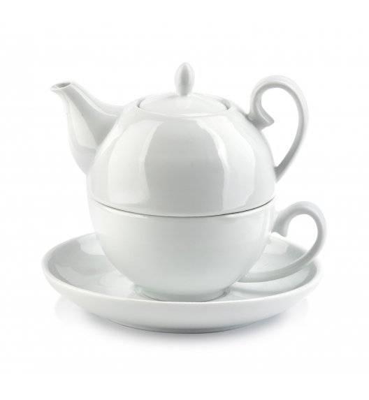 COOKINI BASIC Komplet czajnik 300 ml + filiżanka 200 ml ze spodkiem 15 cm / porcelana