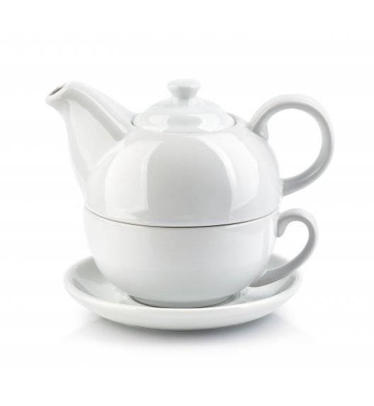 COOKINI BASIC Komplet czajnik 500 ml + filiżanka 350 ml ze spodkiem 14,2 cm / porcelana