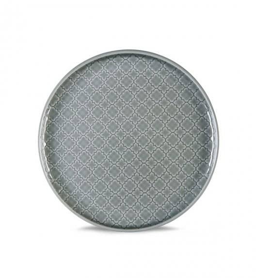 LUBIANA MARRAKESZ K1 Talerz deserowy 17,5 cm / szary / porcelana