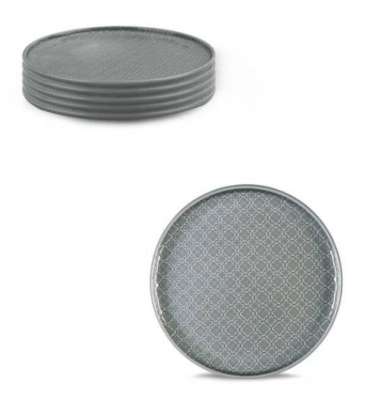 LUBIANA MARRAKESZ K1 Komplet Talerz deserowy 17,5 cm / 6 os / 6 el / szary / porcelana