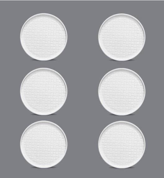 LUBIANA MARRAKESZ Komplet Talerz deserowy 17,5 cm / 6 os / 6 el / biały / porcelana