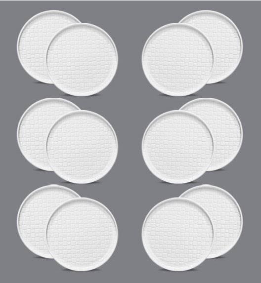 LUBIANA MARRAKESZ Komplet Talerz deserowy 17,5 cm / 12 os / 12 el / biały / porcelana