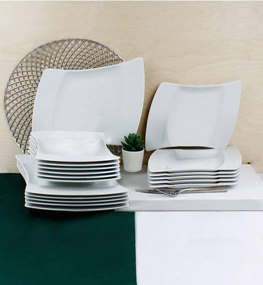 WYPRZEDAŻ! LUBIANA WING Serwis obiadowy 54 el / 18 osób / porcelana