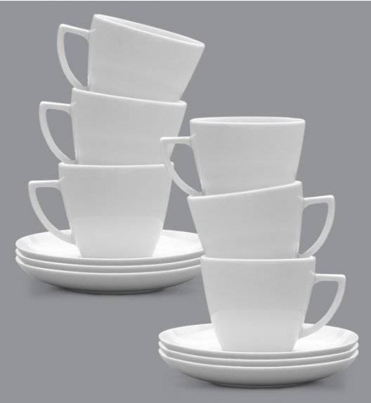 LUBIANA BEATA DOROTA Komplet Filiżanka 350 ml + spodek 17 cm / 6 os / 12 el / porcelana
