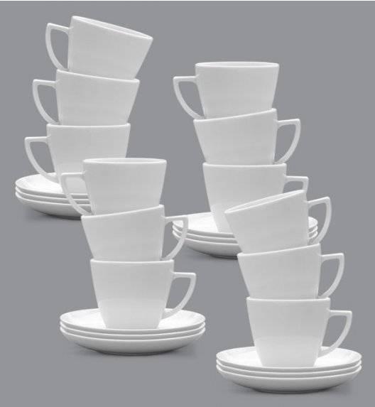 LUBIANA BEATA DOROTA Komplet Filiżanka 350 ml + spodek 17 cm / 12 os / 24 el / porcelana