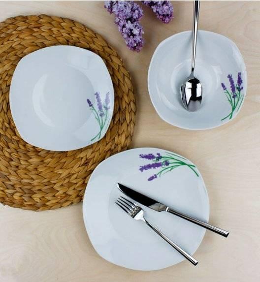 WYPRZEDAŻ! AFFEKDESIGN LAWENDA Serwis obiadowy 9 elementów / 3 osób / porcelana