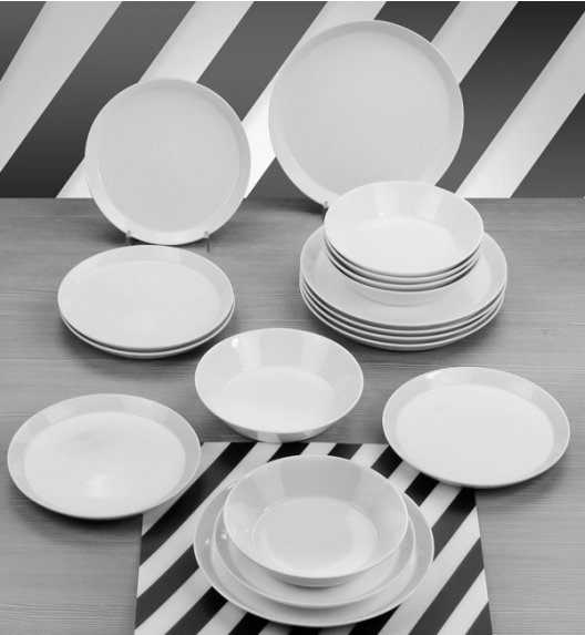 WYPRZEDAŻ! KAROLINA TRENDY Zestaw talerzy 12 elementów dla 6 osób / Porcelana