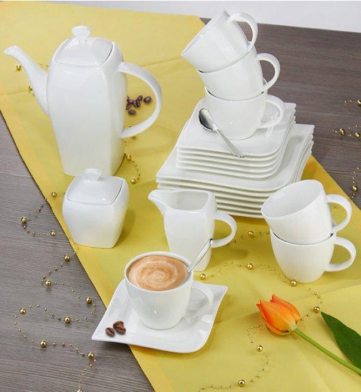 WYPRZEDAŻ! AMBITION FALA Serwis deserowy 19 elementów dla 6 osób / Porcelana