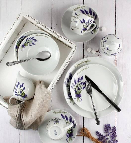 WYPRZEDAŻ! LUBIANA LAWENDA 5979  Zestaw talerzy 13 el dla 4 osób / porcelana