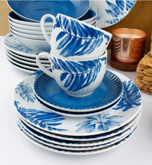 WYPRZEDAŻ! LUBIANA DAISY BLUE Zestaw porcelany deserowej 18 elementów dla 6 osób / Porcelana ręcznie zdobiona