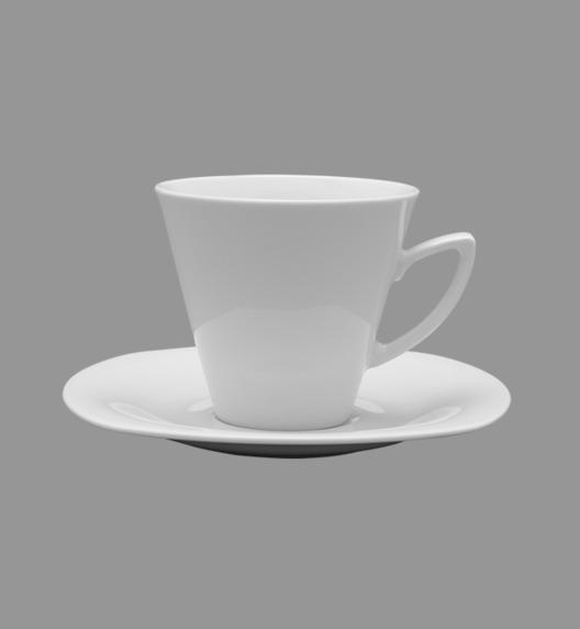 WYPRZEDAŻ! LUBIANA ELEGANCE Zestaw 6 spodków pod filiżankę / talerzyk 15 cm / porcelana