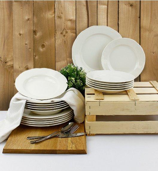WYPRZEDAŻ! KAROLINA ALBA Serwis obiadowy 6 elementów dla 2 osób / porcelana