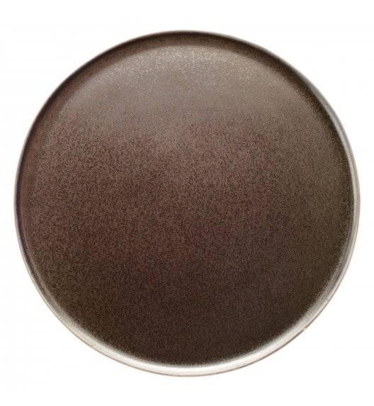 VERLO ETER Talerz obiadowy Ø 28,5 cm / brązowy