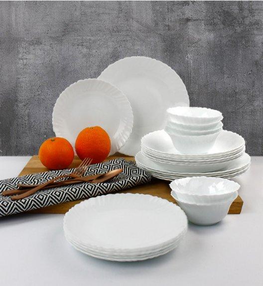 WYPRZEDAŻ! LUMINARC OPAL MUSZELKA Serwis obiadowy 18 elementów dla 6 osób / szkło