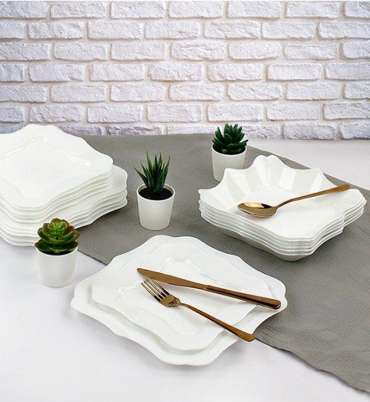 WYPRZEDAŻ! LUMINARC AUTHENTIC WHITE Serwis obiadowy 6 elementów dla 2 osób