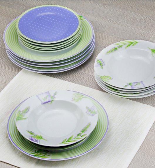 DOMINO LAWENDER Serwis obiadowy 72 el / 24 os / porcelana