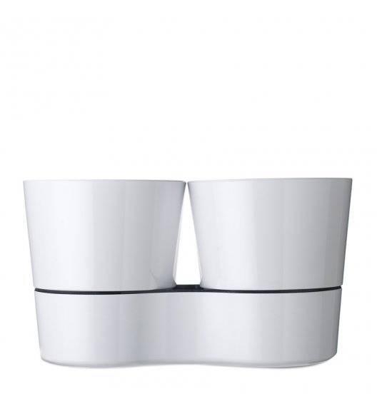 MEPAL HYDRO HERB Podwójna doniczka z systemem nawadniania / biała