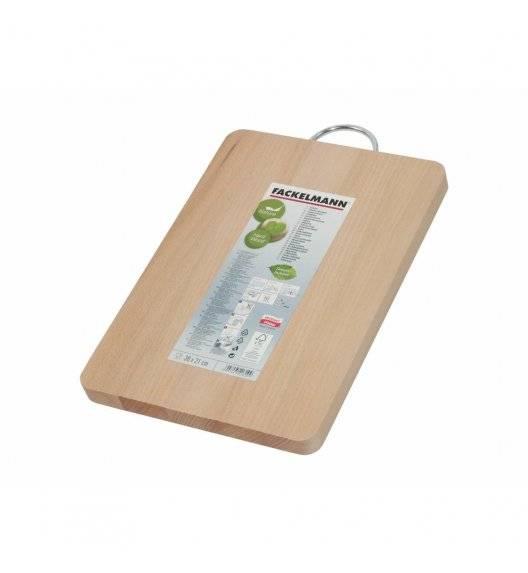 FACKELMANN NATURE Deska kuchenna do krojenia z metalową zawieszką / 30 x 21 cm / drewno bukowe