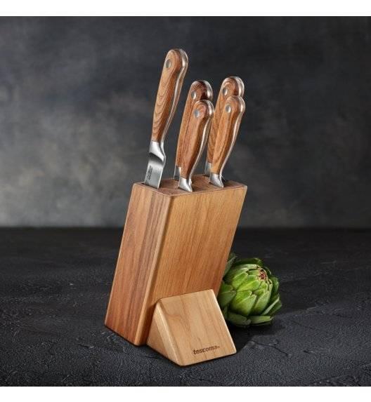 TESCOMA FEELWOOD Zestaw 5 noży w bloku / drewno jesionowe