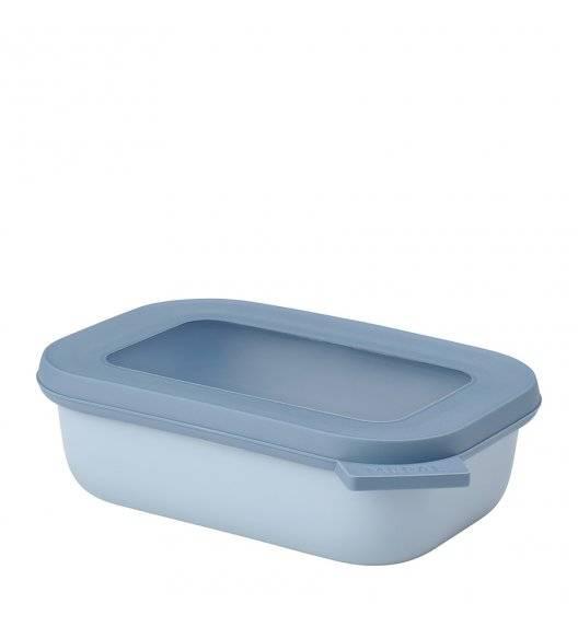 MEPAL CIRQULA Miska prostokątna z wieczkiem 500 ml / noridic blue