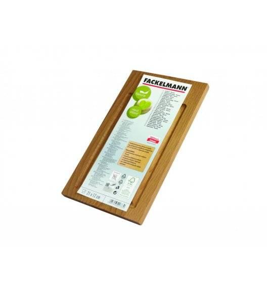 FACKELMANN NATURE Deska do krojenia 21 x 12 cm / drewno bukowe