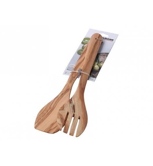 FACKELMANN NATURE Sztućce do serwowania sałaty 30 cm / drewno oliwne