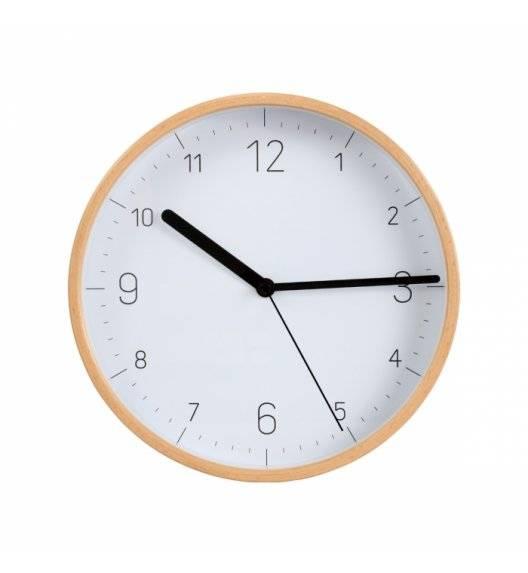 TESCOMA FANCY HOME Drewniany zegar ścienny / biała tarcza