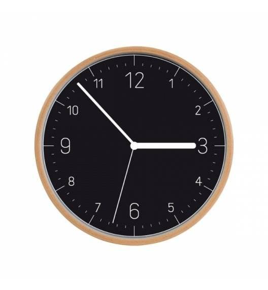 TESCOMA FANCY HOME Drewniany zegar ścienny / czarna tarcza