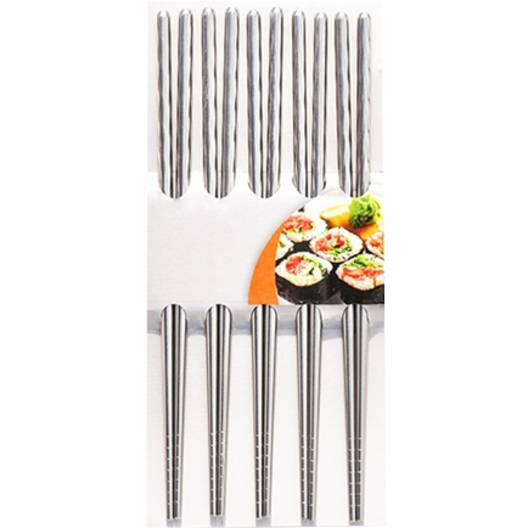 FACKELMANN ASIA LINE 5x pałeczki do ryżu / sushi 23 cm / metalowe