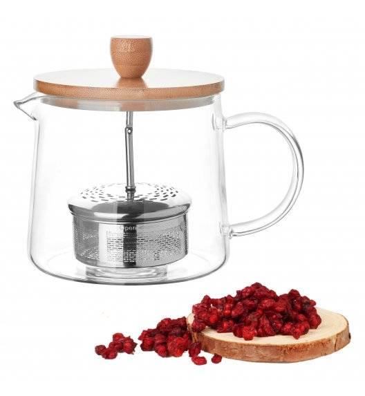 KonigHOFFER ALBEDO Szklany dzbanek do herbaty z zaparzaczem / 1,0 L