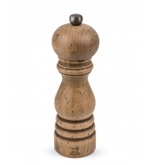 WYPRZEDAŻ! PEUGEOT ANTIQUE Młynek do pieprzu 18 cm / drewno bukowe ręcznie postarzane