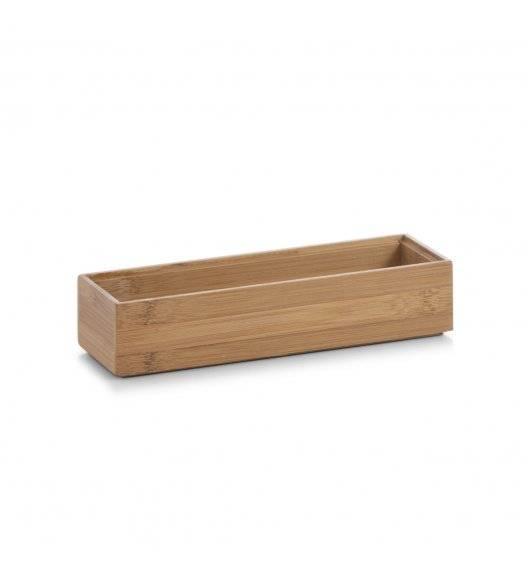 WYPRZEDAŻ! ZELLER Pudełko do przechowywania 23x7,5 cm / drewno bambusowe