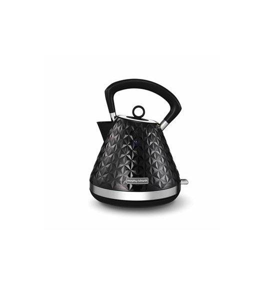 WYPRZEDAŻ! MORPHY RICHARDS VECTOR PIRAMID Czajnik elektryczny / czarny 1,5 L / Tworzywo sztuczne / BPA FREE / 108131