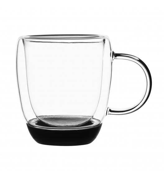 TADAR GARET Szklanki termiczne do kawy z czarnym silikonowym dnem / 330 ml / 2 sztuki