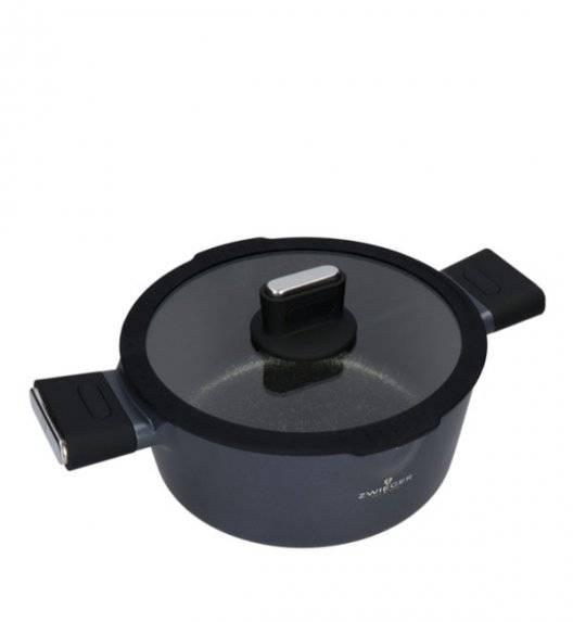 ZWIEGER VESNA Garnek 3,5 l z pokrywką 24 cm / GREBLON C3 non-stick / indukcja