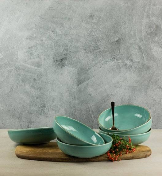 LUBIANA RONDO K5 Komplet 12 x talerz głęboki 21 cm / morski / porcelana
