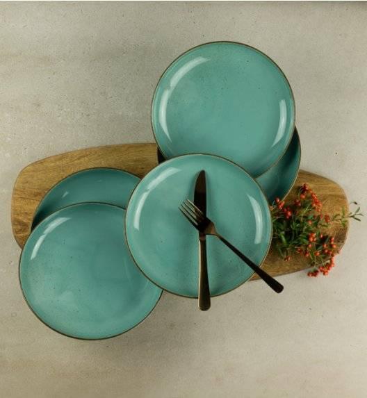 LUBIANA RONDO K5 12 x talerz deserowy 22 cm / morski / porcelana