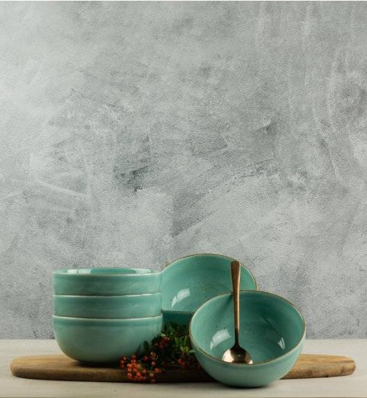 LUBIANA RONDO K5 12 x Salaterka / miska 16 cm / morski / porcelana