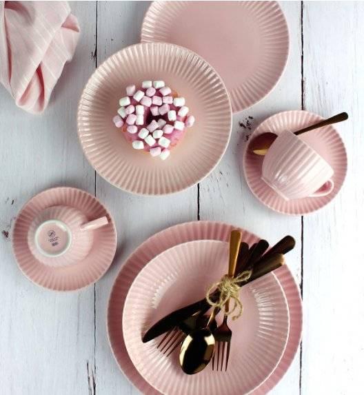 LUBIANA DAISY K7 Serwis obiadowo - kawowy 18 osób / 90 elementów / różowy