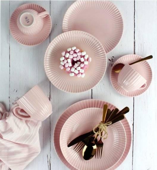 LUBIANA DAISY K7 Serwis obiadowo - kawowy 12 osób / 72 elementy / różowy